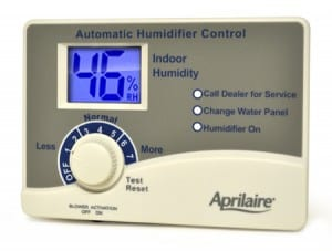 The humidistat controls the humidity level of your humidifier. Make sure to turn off the humidifier at the end of the season, when servicing, or when changing the humidifier filter.