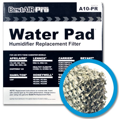The humidifier filter captures water to deliver humid air into your home. it's also known as a water pad