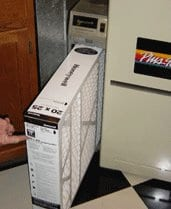 "In most cases, air cleaner cabinets have a filter that's much thicker or wider than the standard 1"" slot."