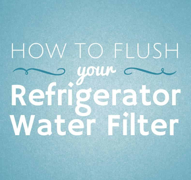 It's important to flush your refrigerator water filter to wash out carbon dust and particulates from the filter.