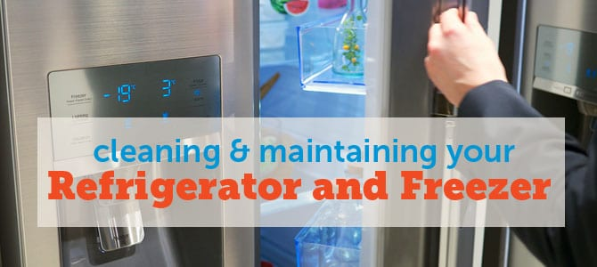 Cleaning and Maintaining Refrigerator