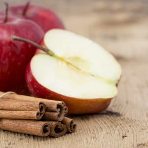 spice up your water with apple and cinnamon for a healthy, refreshing treat.