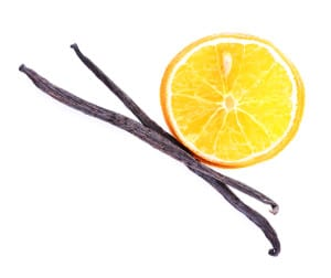 Orange with a little vanilla or vanilla bean is a refreshing, tasty addition to your water