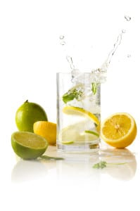 lemon and lime infused water