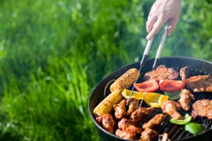 beat the heat by grilling outside