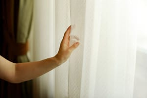 beat the heat by closing curtains