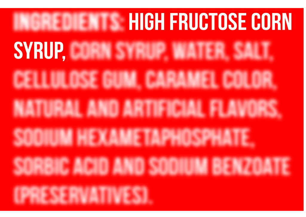 high fructose corn syrup in soft drink ingredients