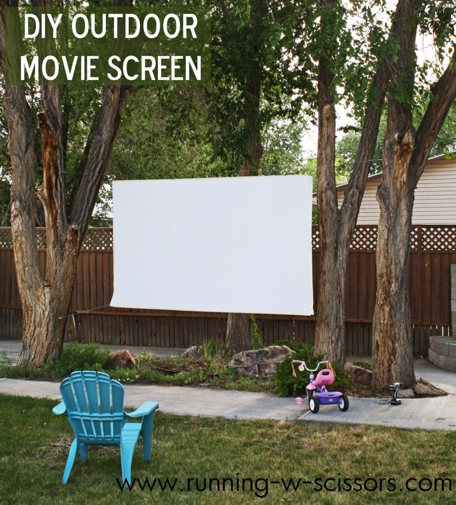 outdoor movie screen project