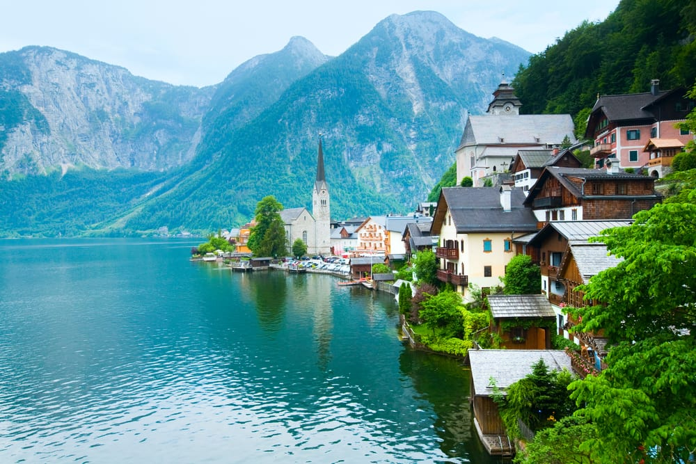Alpine Hallstatt Town and lake Hallstatter