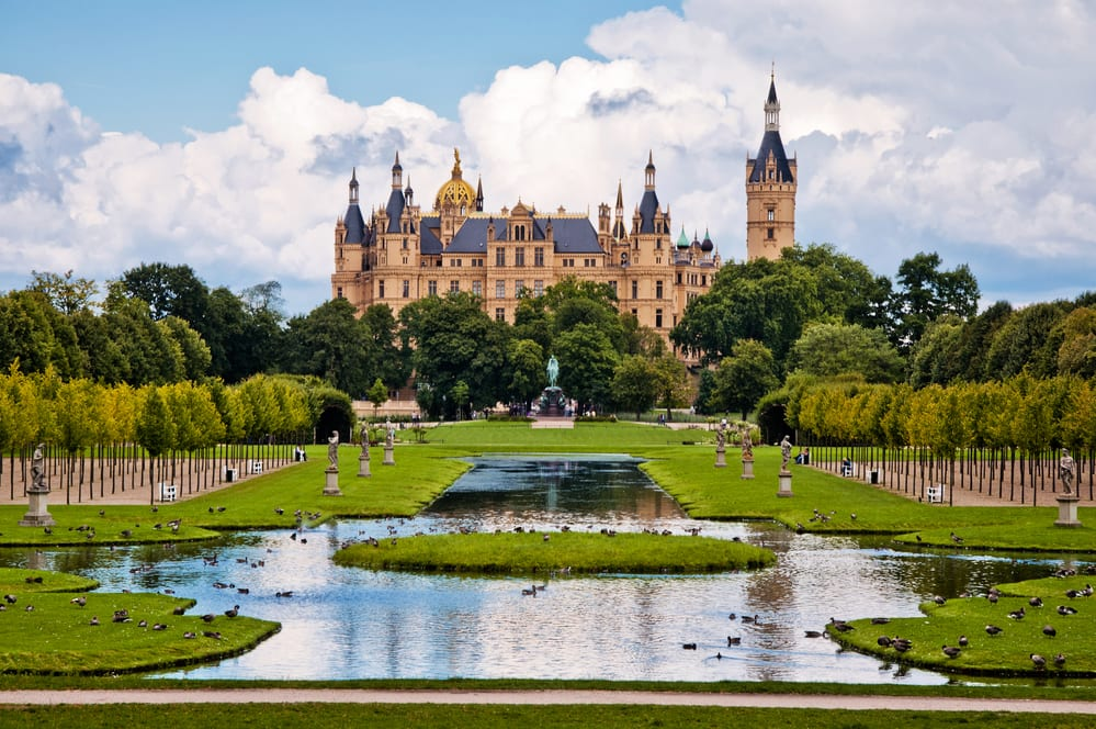 beautiful, fairy-tale castle in Schwerin