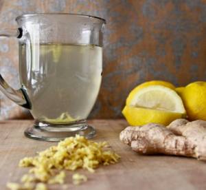 citrus and ginger infused water