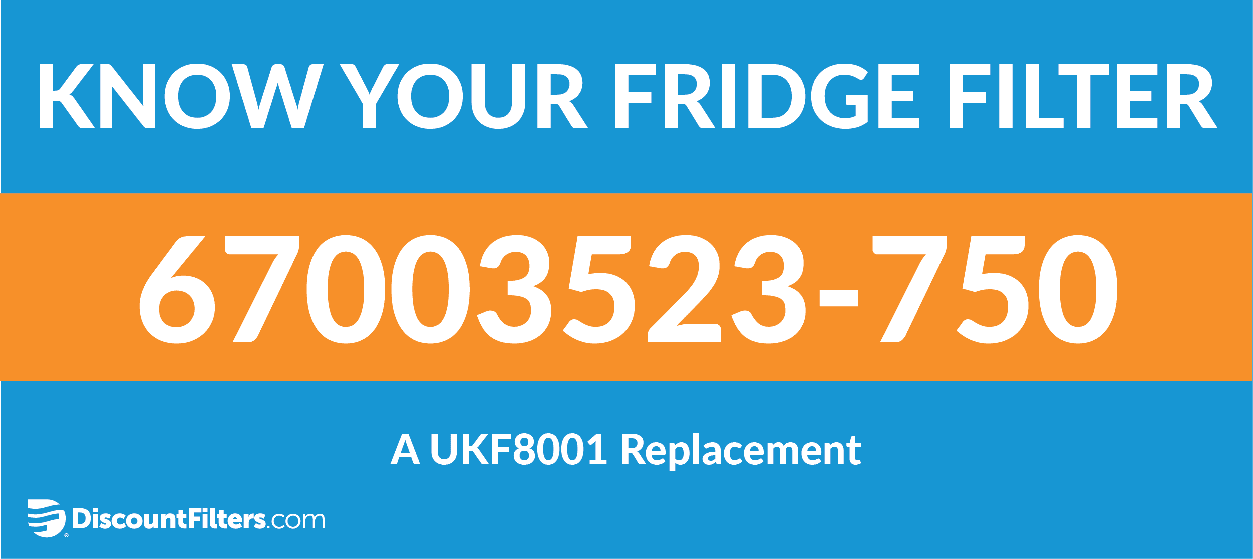 know your fridge filter 67003523-750 ukf8001 replacement