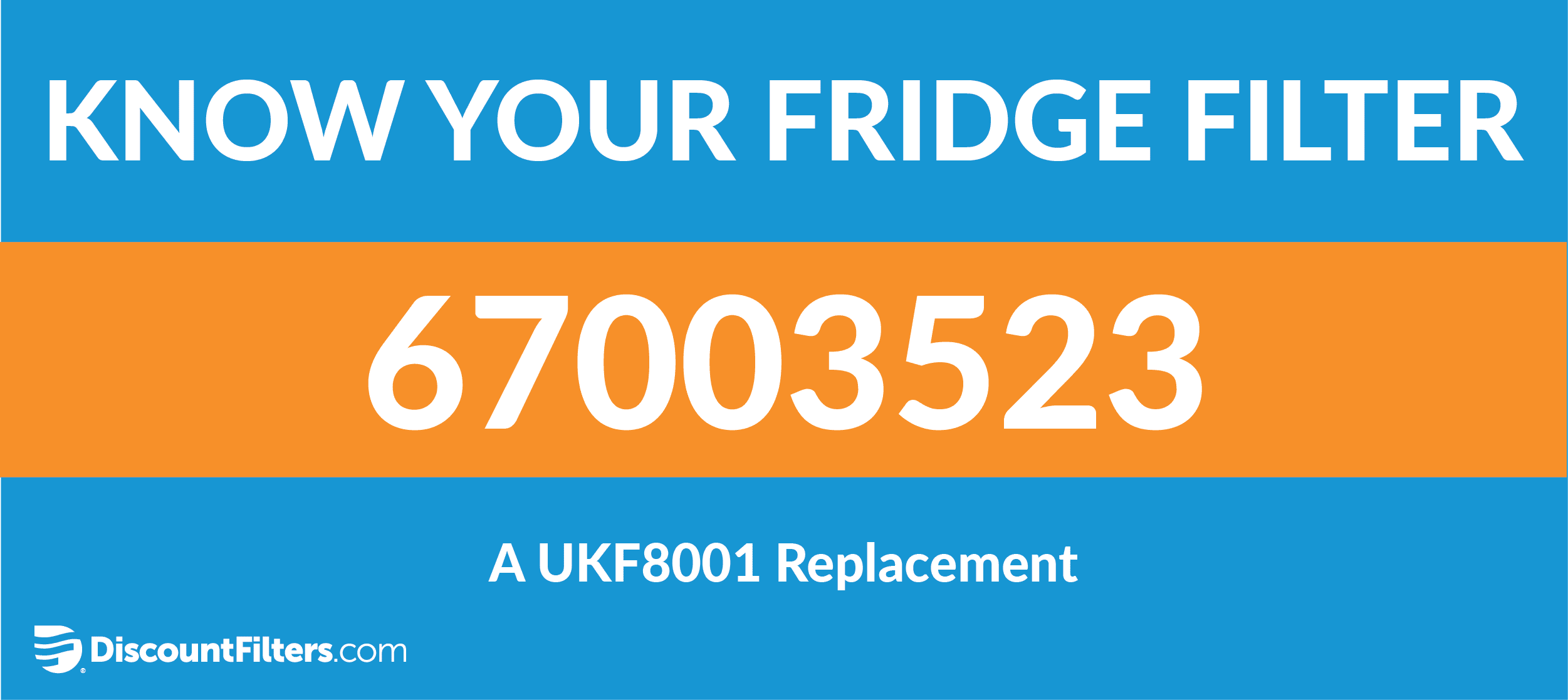 know your fridge filter: 67003523 a ukf8001 replacement