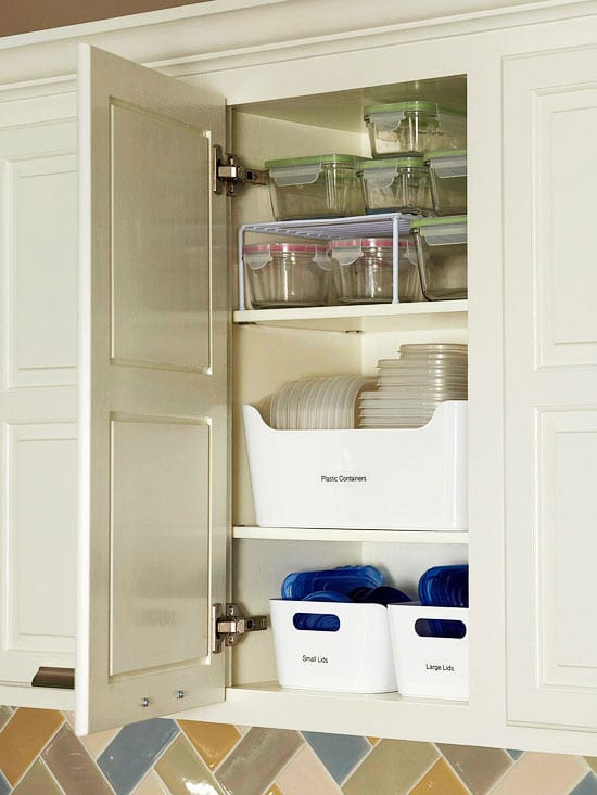 Baskets for Storage Containers and Lids - Kitchen Organization
