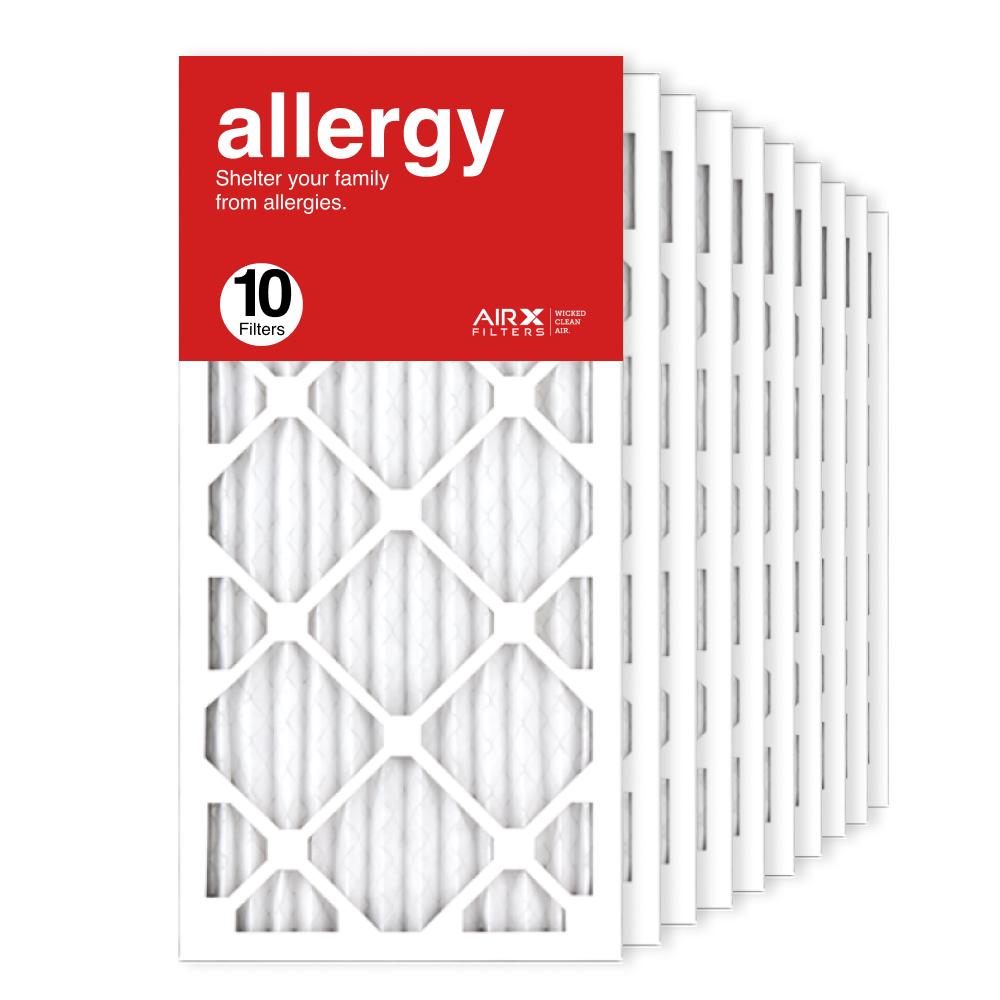 12x25x1 AIRx ALLERGY Air Filter, 10-Pack