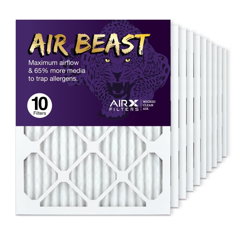 16x20x1 AIRx Air Beast High Flow Air Filter, 10-Pack