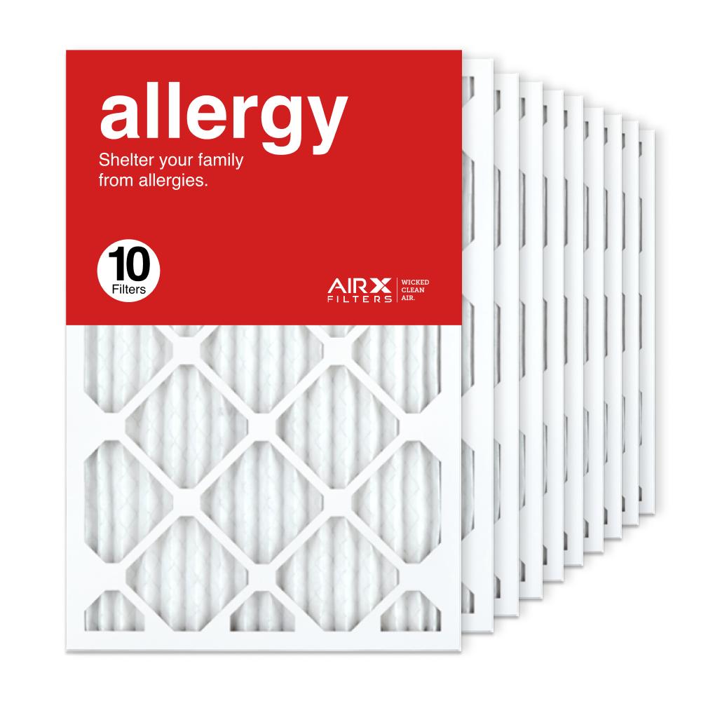 16x25x1 AIRx ALLERGY Air Filter, 10-Pack