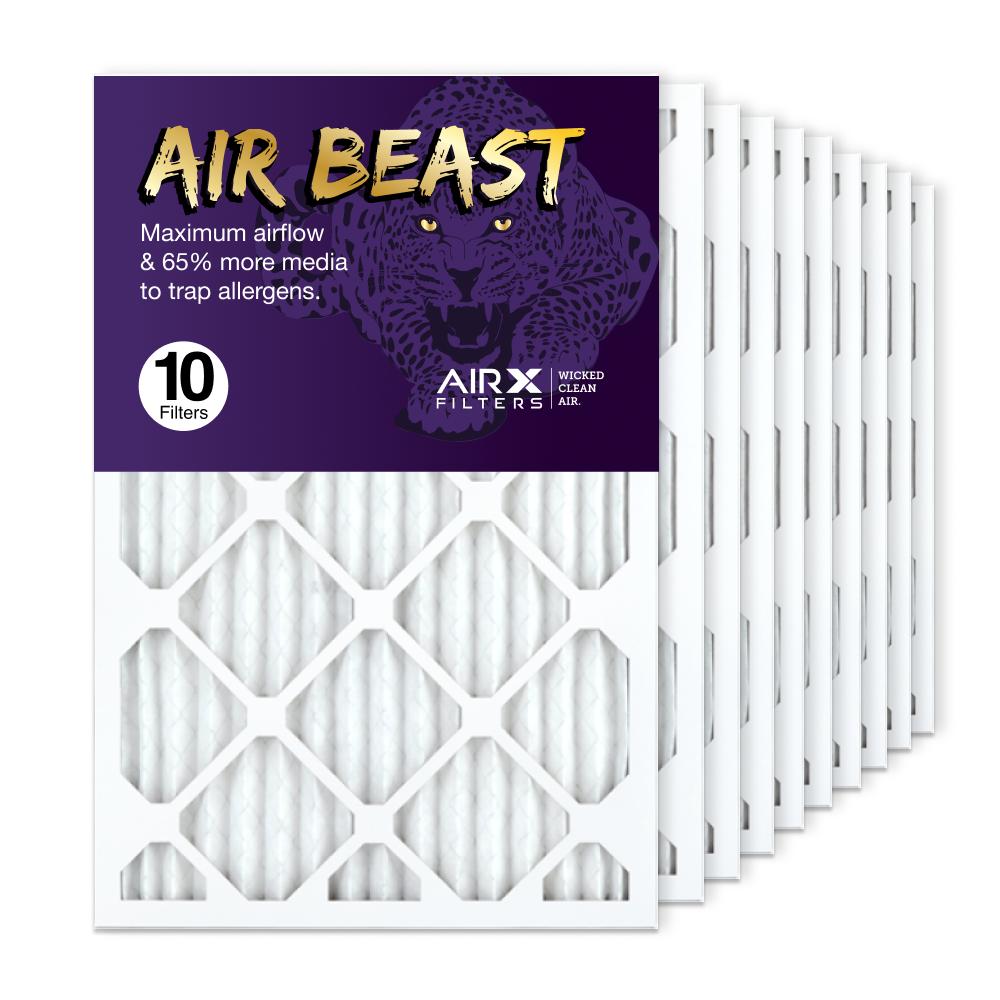 16x25x1 AIRx Air Beast High Flow Air Filter, 10-Pack