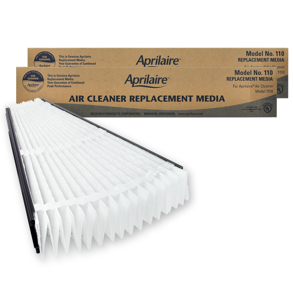 Aprilaire #110 MERV 11 Replacement Filter, 2-Pack