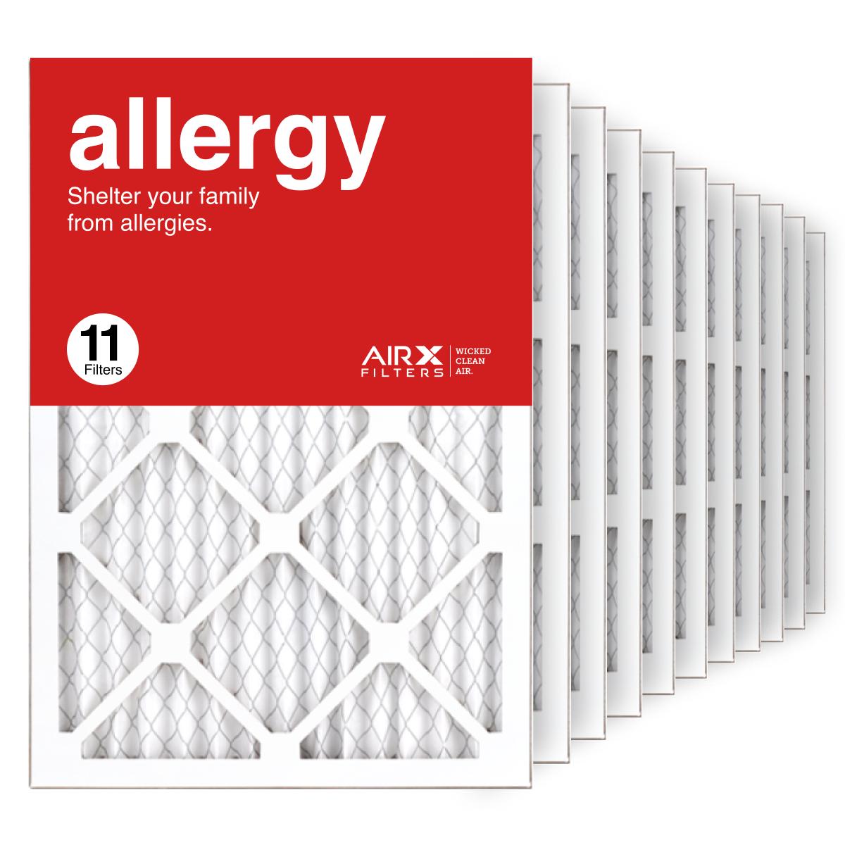 14x20x1 AIRx ALLERGY Air Filter, 11-Pack