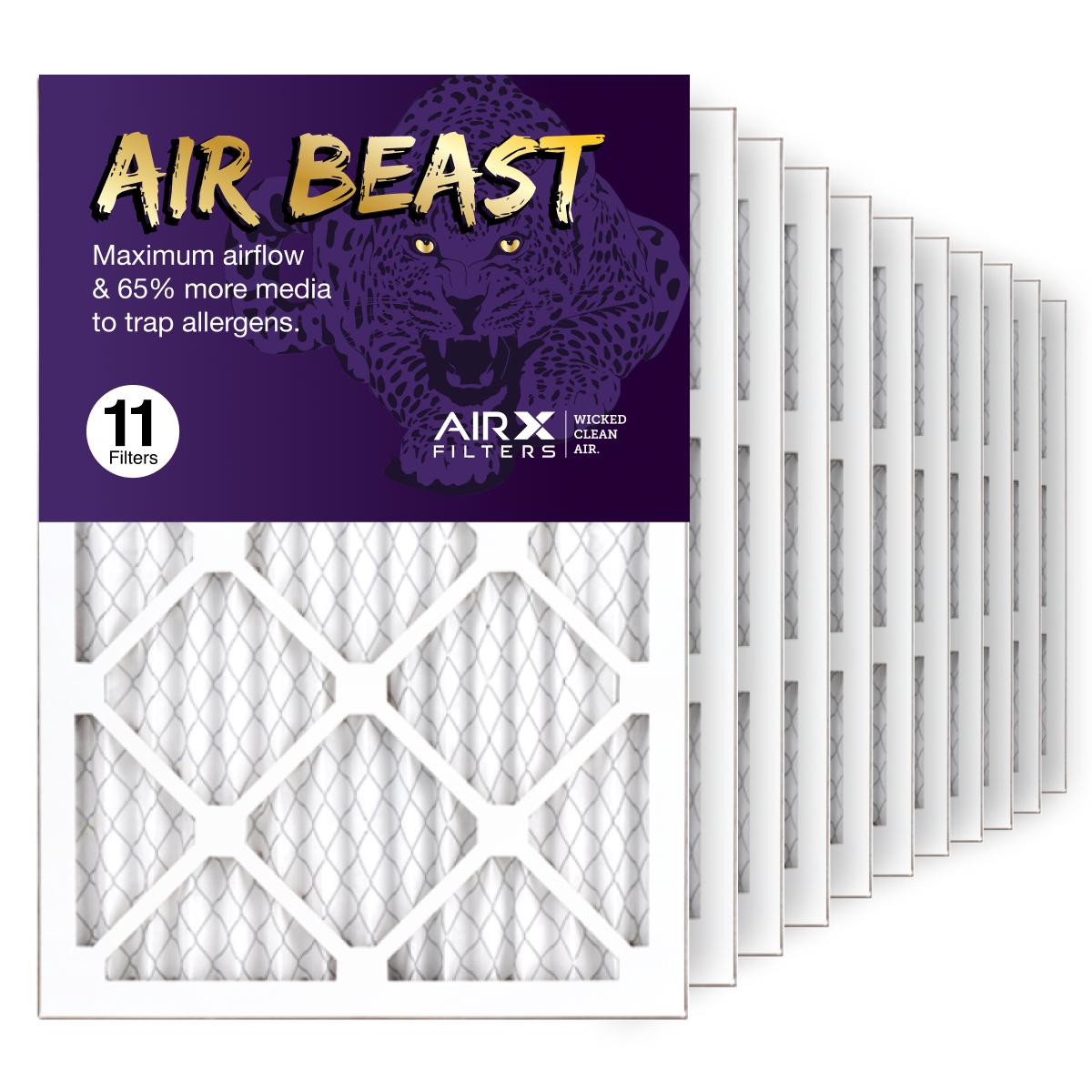 14x20x1 AIRx Air Beast High Flow Air Filter, 11-Pack