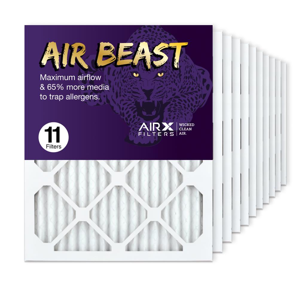 16x20x1 AIRx Air Beast High Flow Air Filter, 11-Pack
