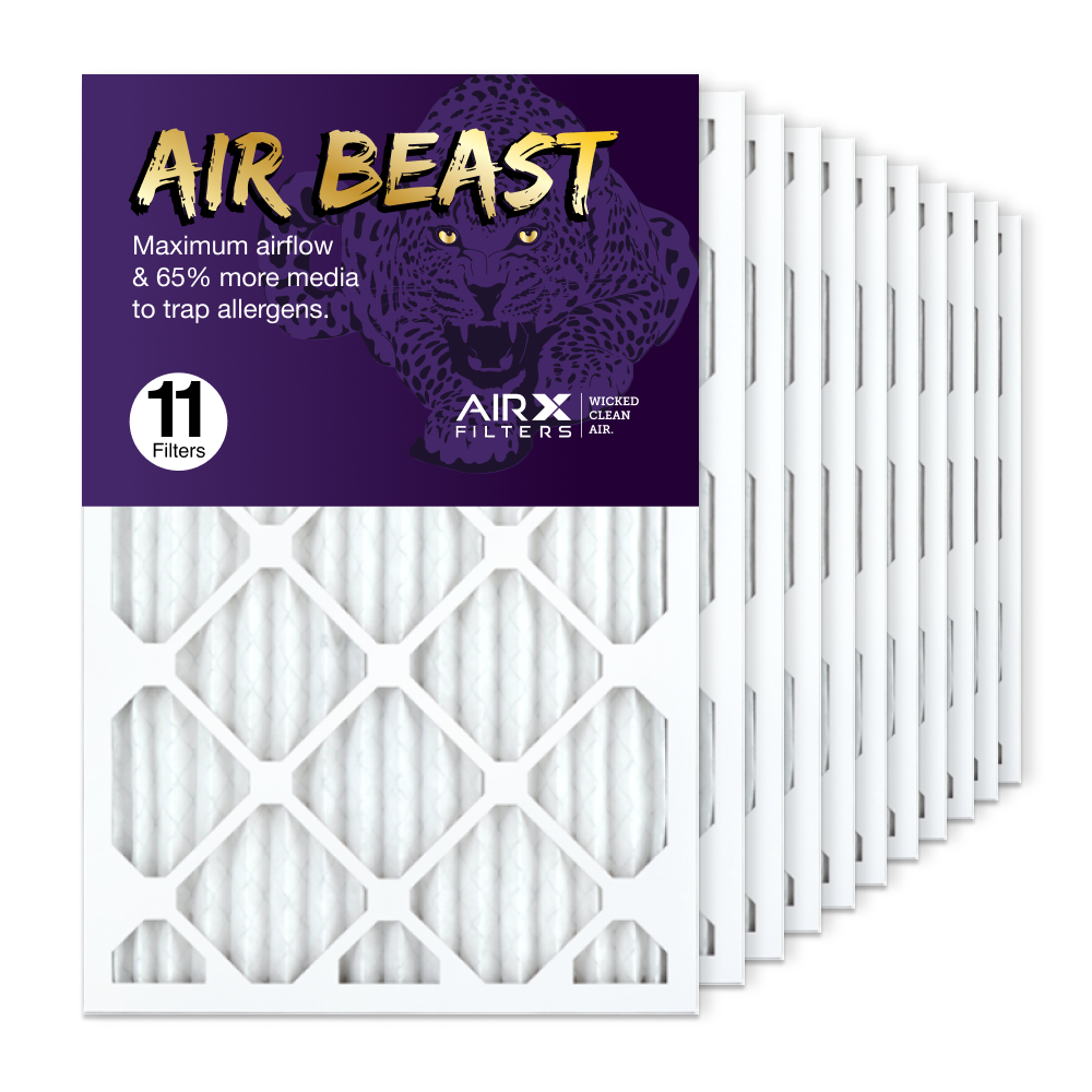 16x25x1 AIRx Air Beast High Flow Air Filter, 11-Pack
