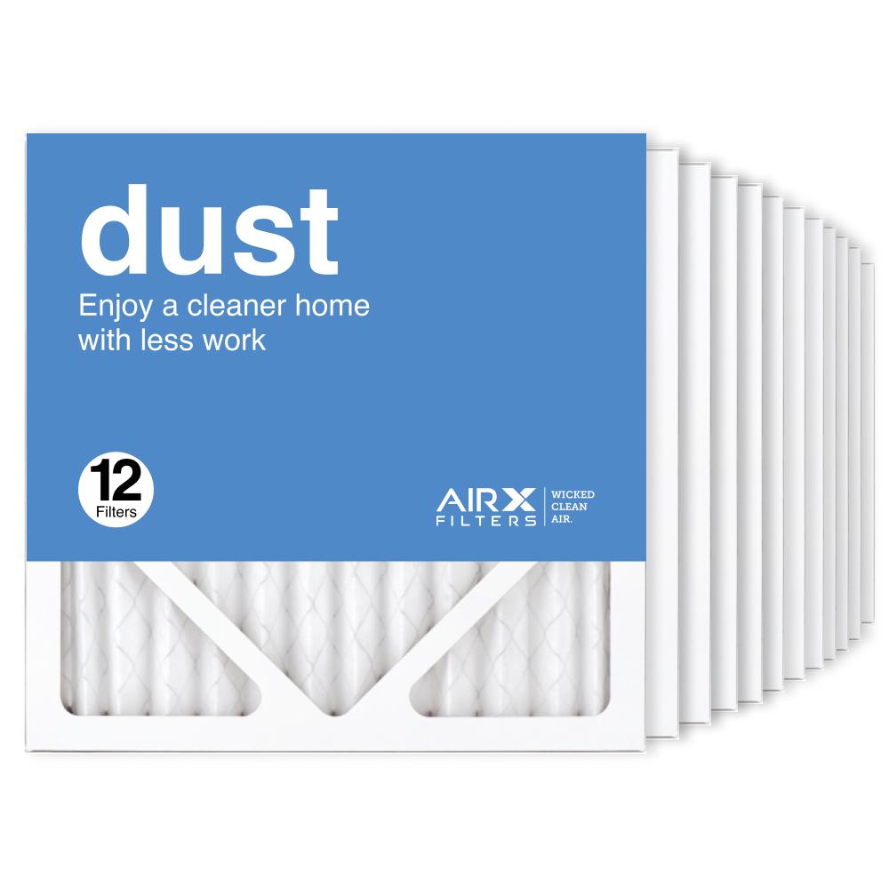 12x12x1 AIRx DUST Air Filter, 12-Pack