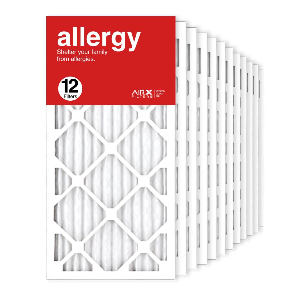 12x25x1 AIRx ALLERGY Air Filter, 12-Pack