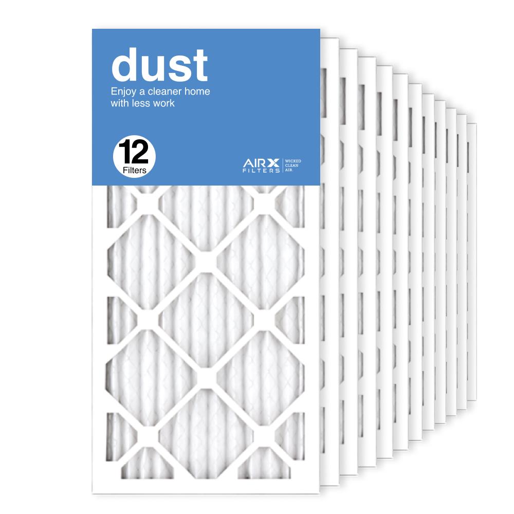 12x25x1 AIRx DUST Air Filter, 12-Pack