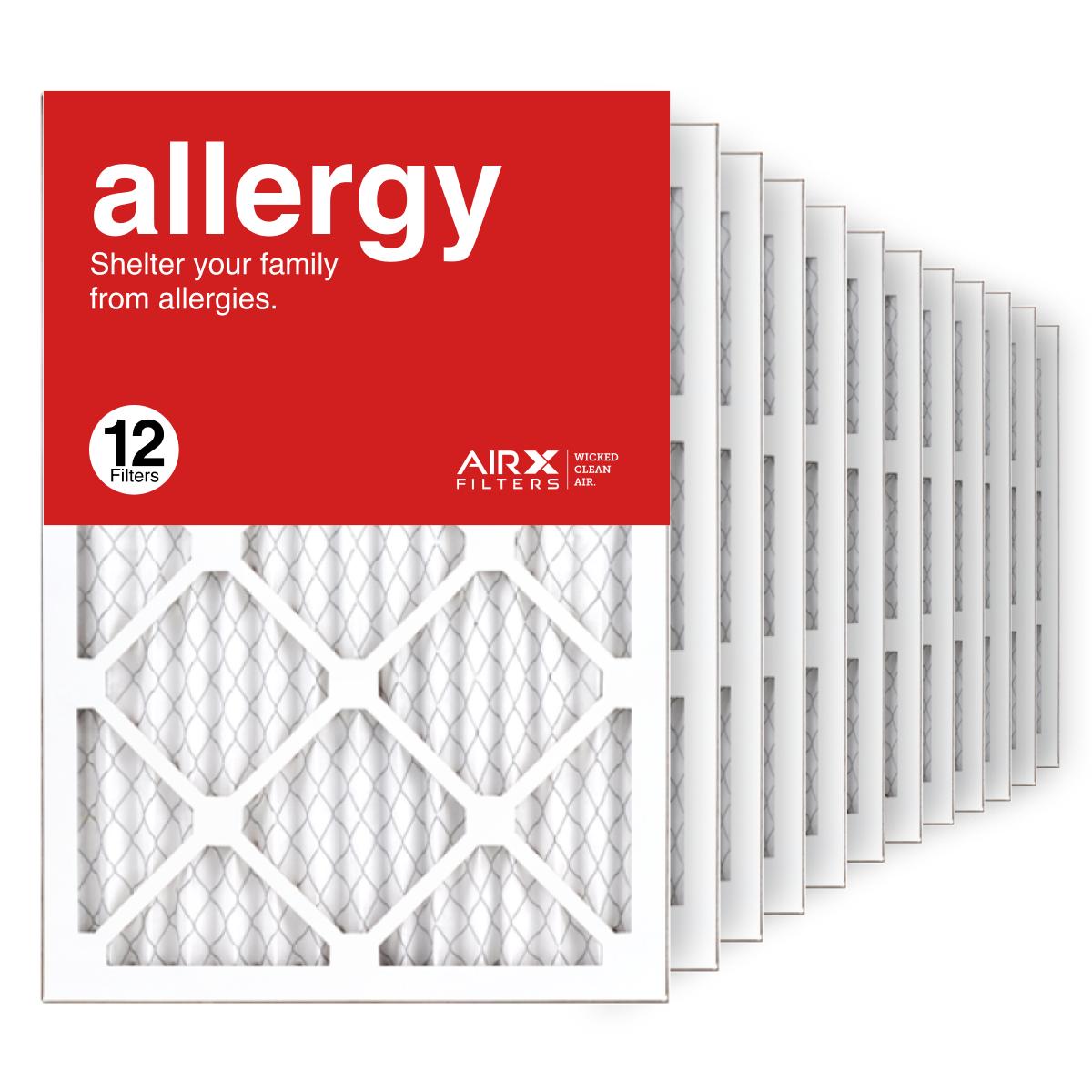 14x20x1 AIRx ALLERGY Air Filter, 12-Pack