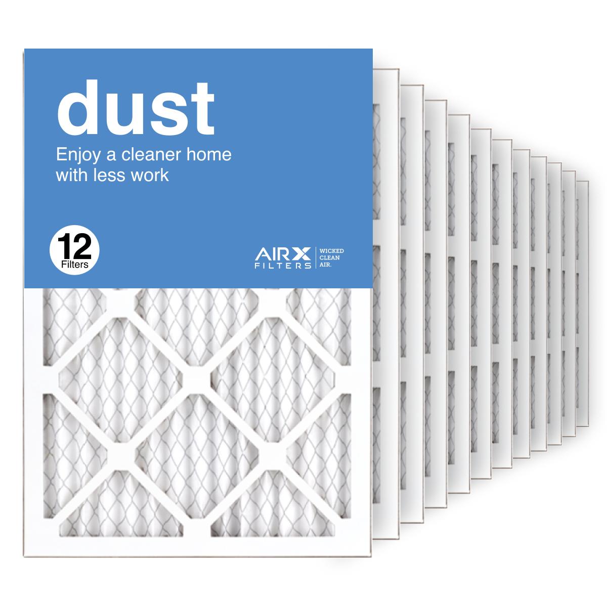 14x20x1 AIRx DUST Air Filter, 12-Pack