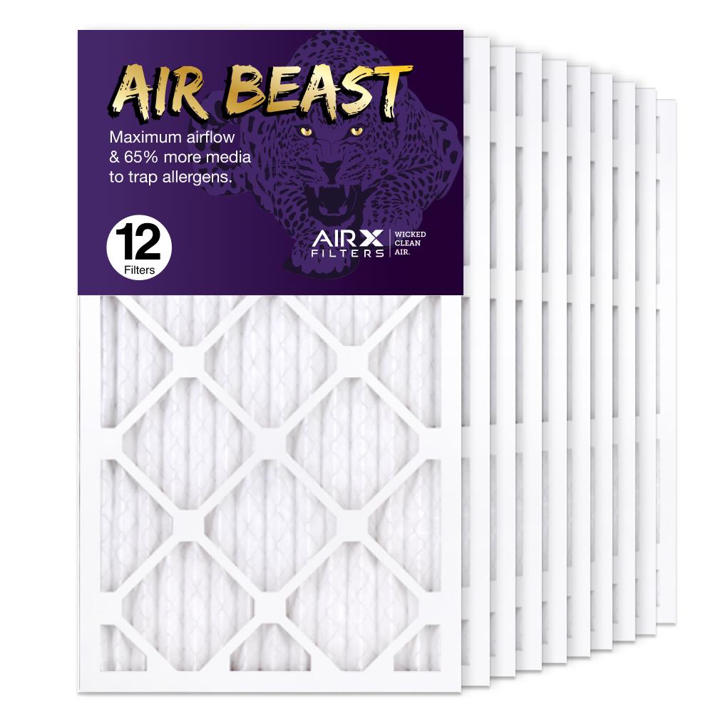14x25x1 AIRx Air Beast High Flow Air Filter, 12-Pack
