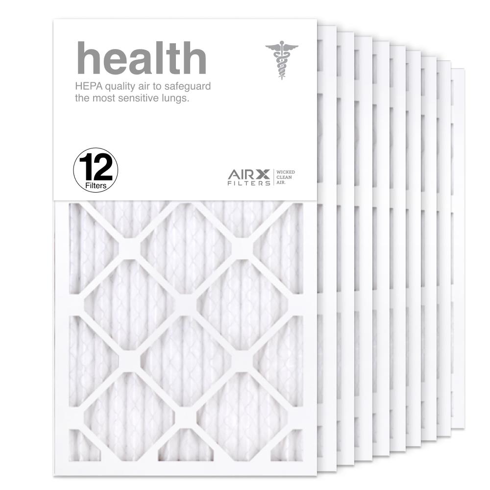 14x25x1 AIRx HEALTH Air Filter, 12-Pack