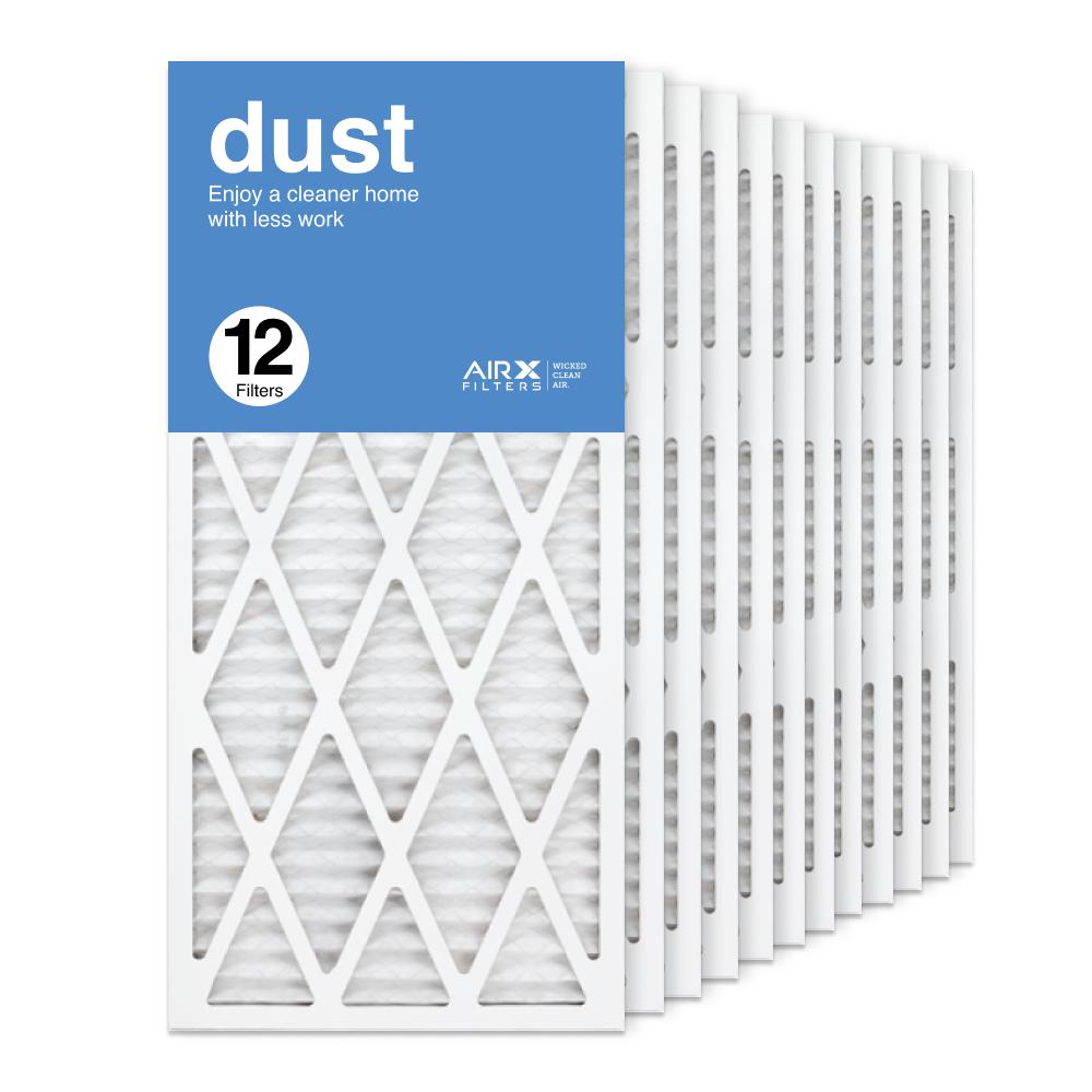 14x30x1 AIRx DUST Air Filter, 12-Pack