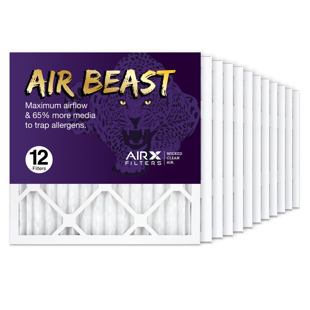 16x16x1 AIRx Air Beast High Flow Air Filter, 12-Pack