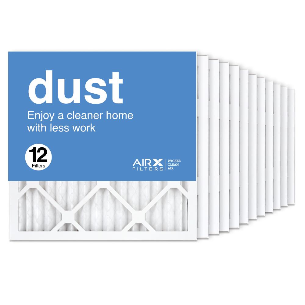 16x16x1 AIRx DUST Air Filter, 12-Pack