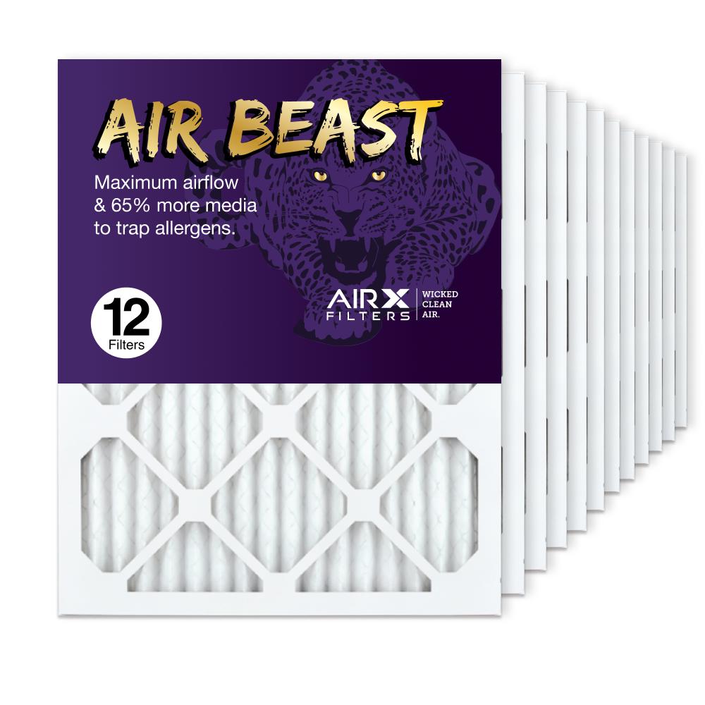 16x20x1 AIRx Air Beast High Flow Air Filter, 12-Pack