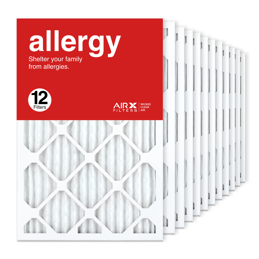 16x24x1 AIRx ALLERGY Air Filter, 12-Pack