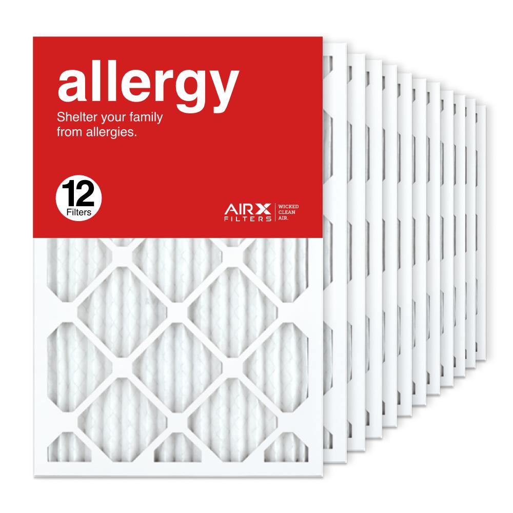 16x25x1 AIRx ALLERGY Air Filter, 12-Pack