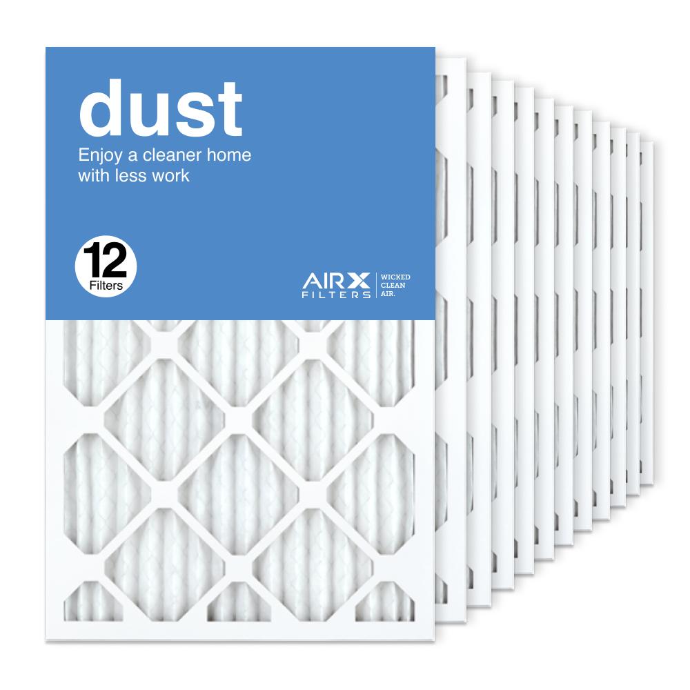 16x25x1 AIRx DUST Air Filter, 12-Pack
