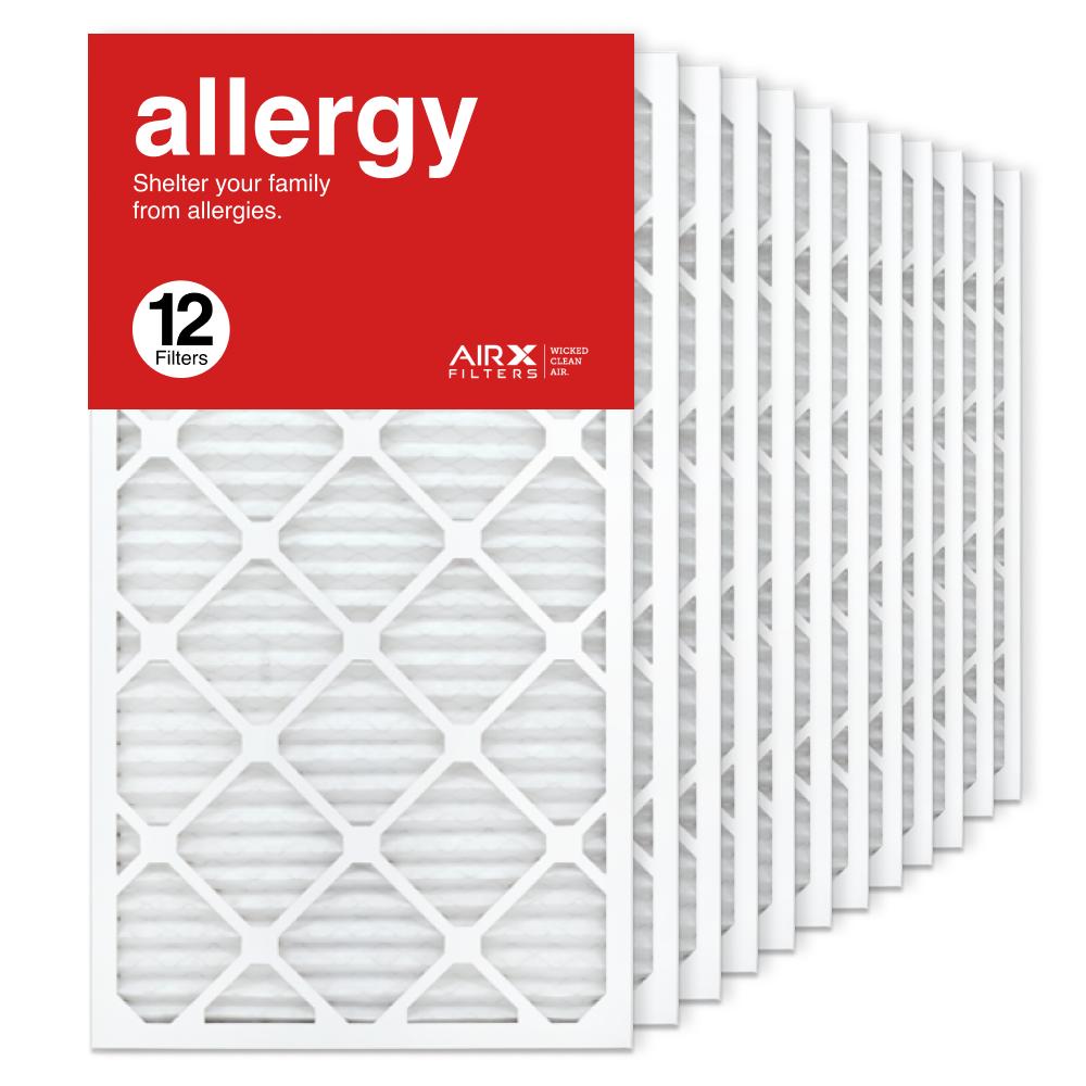 16x30x1 AIRx ALLERGY Air Filter, 12-Pack