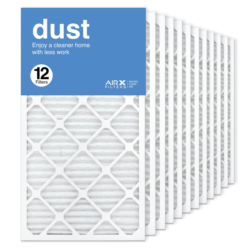 16x30x1 AIRx DUST Air Filter, 12-Pack