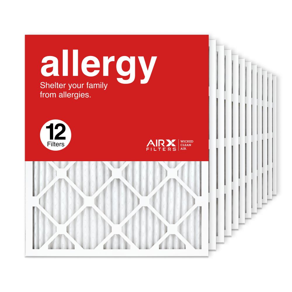 20x25x1 AIRx ALLERGY Air Filter, 12-Pack