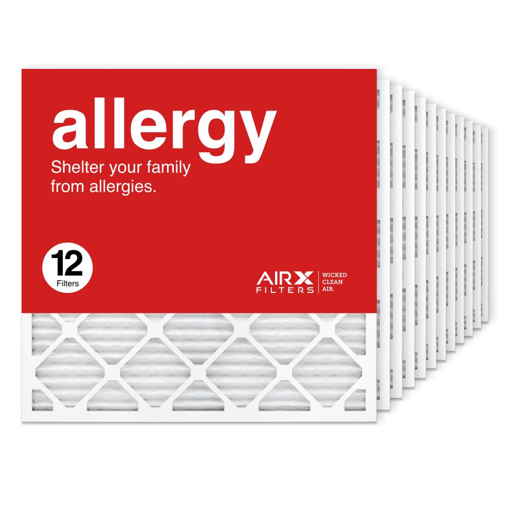 25x25x1 AIRx ALLERGY Air Filter, 12-Pack
