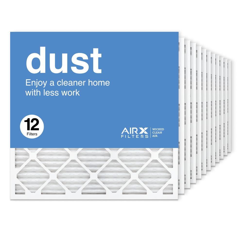 25x25x1 AIRx DUST Air Filter, 12-Pack