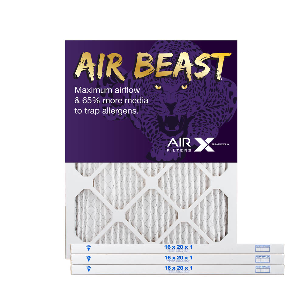 16x20x1 AIRx Air Beast High Flow Pleated Air Filter