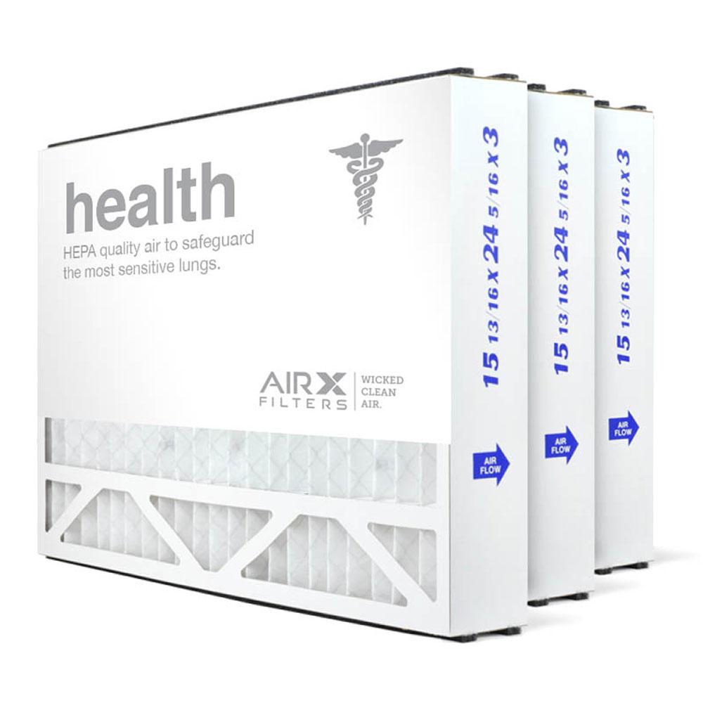 16x25x3 AIRx HEALTH Air Bear 255649-101 Replacement Air Filter - MERV 13