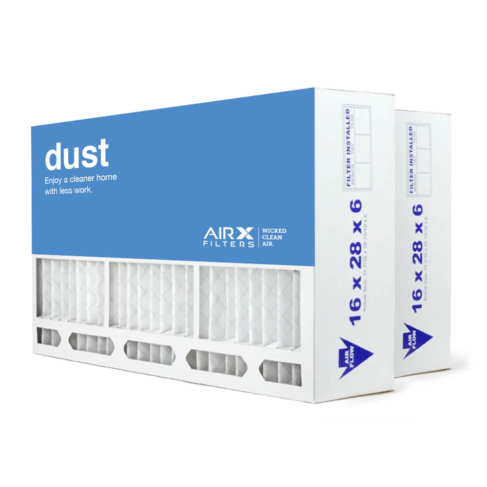 16x28x6 AIRx DUST Aprilaire 401 Replacement Air Filter - MERV 8