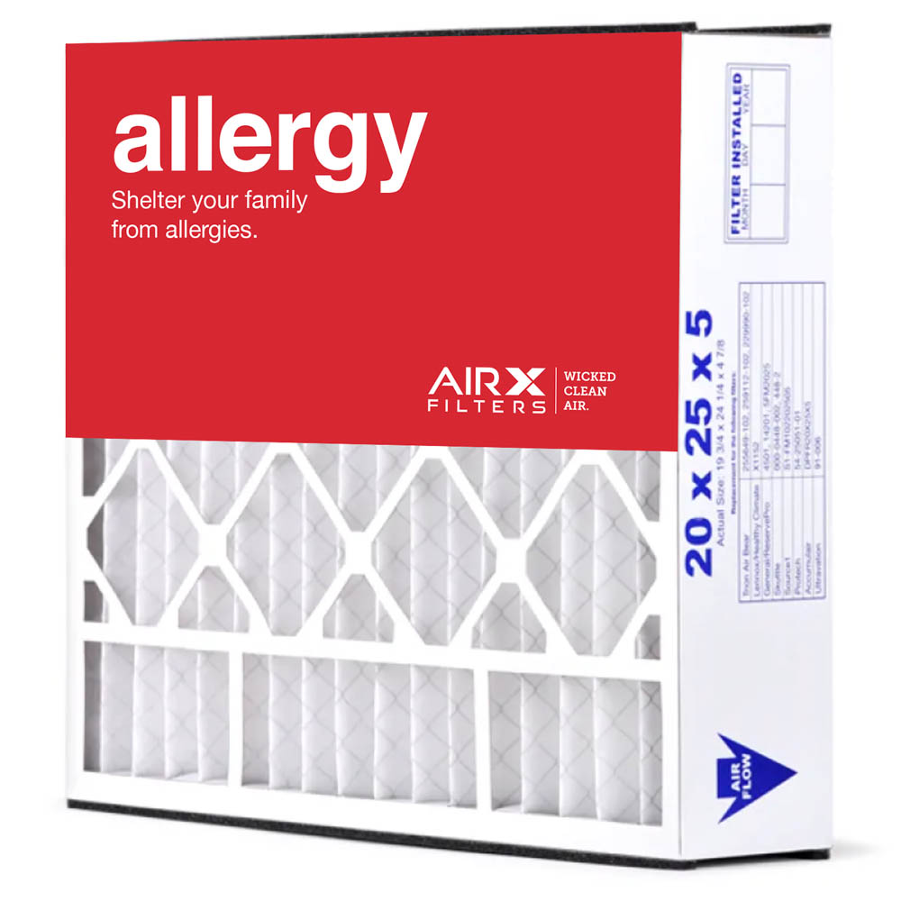 20x25x5 AIRx ALLERGY Air Bear 255649-102 Replacement Air Filter - MERV 11, 4 pack